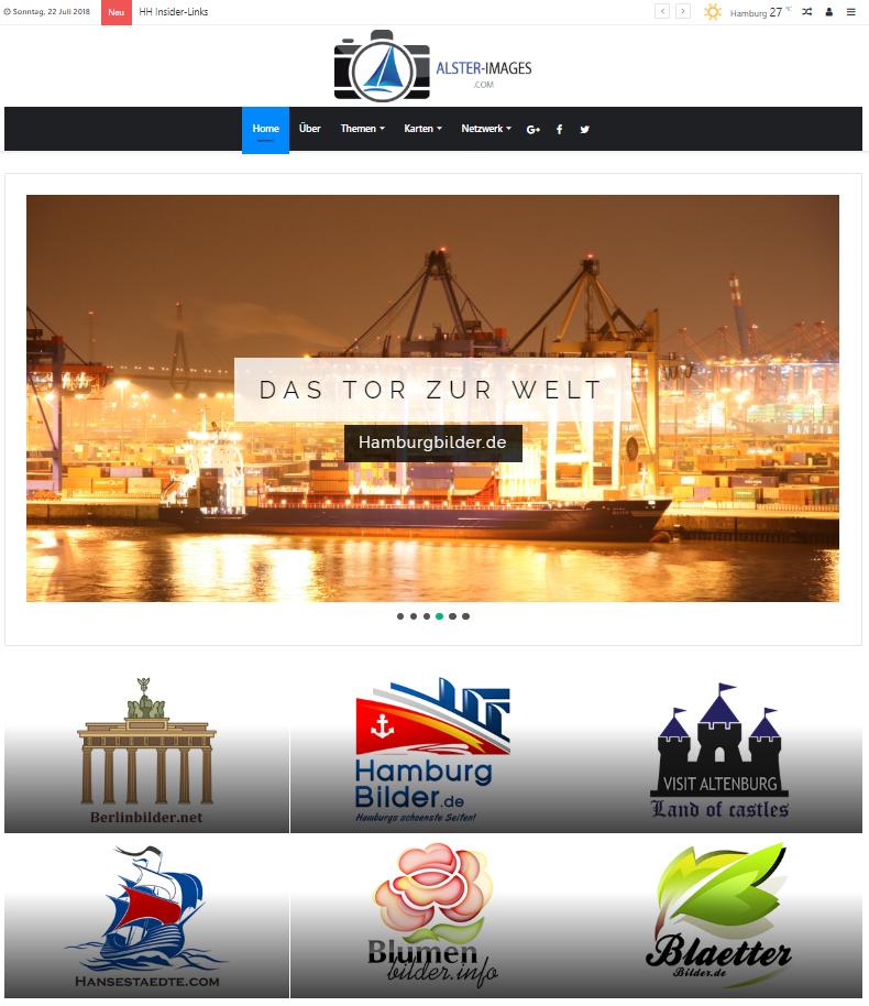 Neues Websitedesign